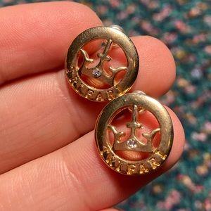 Vintage Gold Trifari Circle Crown Studs